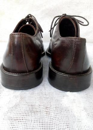 Borelli  италия туфли дерби кожа р 41 коричневые4 фото