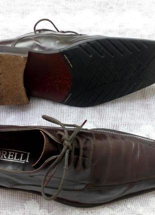 Borelli  италия туфли дерби кожа р 41 коричневые5 фото