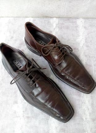Borelli  италия туфли дерби кожа р 41 коричневые2 фото