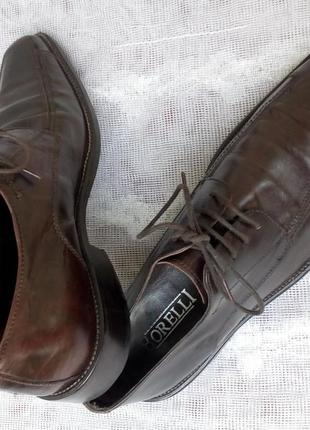 Borelli  италия туфли дерби кожа р 41 коричневые3 фото