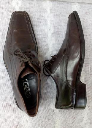 Borelli  италия туфли дерби кожа р 41 коричневые