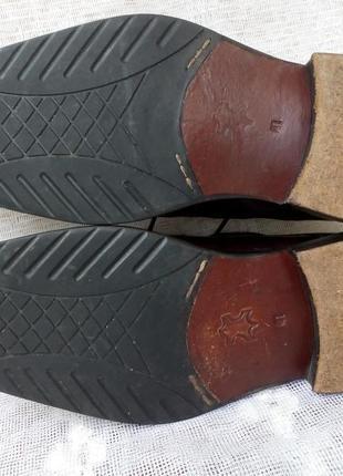 Borelli  италия туфли дерби кожа р 41 коричневые6 фото