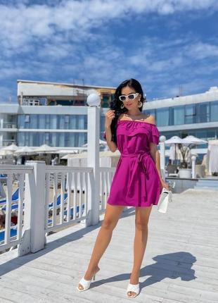 Женское платье с открытыми плечами2 фото