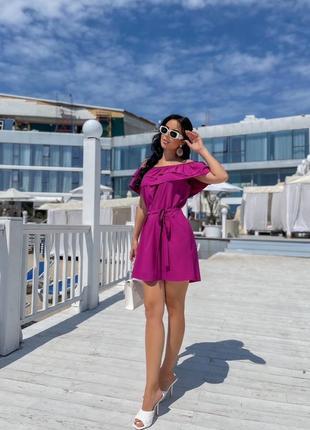 Женское платье с открытыми плечами4 фото