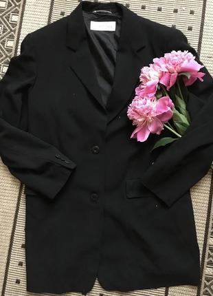 Классический шерстяной пиджак жакет италия max mara оригинал блейзер  оверсайз с мужского плеча винтаж