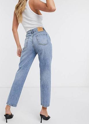 Mom jeans джинсы светлые мам на высокой посадке момы под zara зара