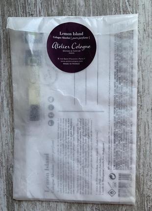Пробник унисекс аромата atelier cologne lemon island 1.7 мл