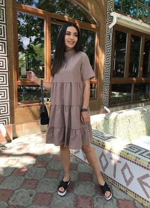 Льняное платье1 фото