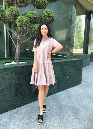 Льняное платье2 фото