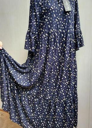 Платье оверсайз,сукня,плаття,сарафан,хлопковое,длинное в стиле бохо,в цветочный принт