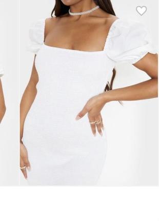 Белое платье сарафан xs