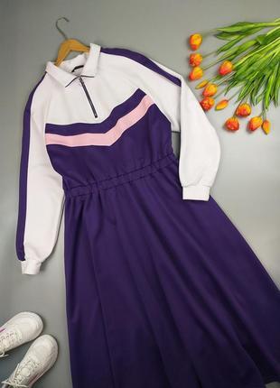 Платье миди с длинным рукавом  16р.