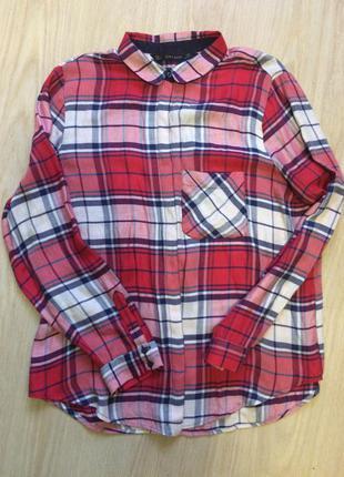 Брендовая рубашка от zara   р.л