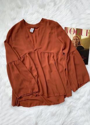 Терракотовая блуза в стиле бохо1 фото