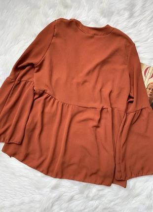 Терракотовая блуза в стиле бохо2 фото
