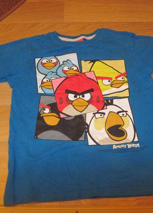 Крутая футболка angry birds 7 р