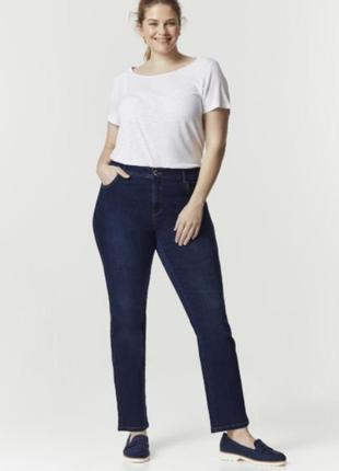Тёмно-синие джинсы прямые
