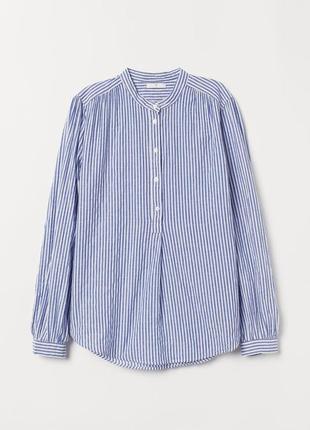 Новая хлопковая блуза h&m, свободная. размер 38-40