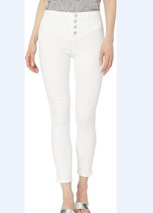 Эффектные белые джинсы брюки высокая посадка skinnygirl jeans размер 28 м