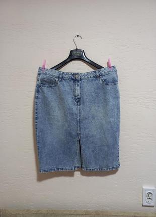 Супер модная джинсовая юбка карандаш next 52-54 размер