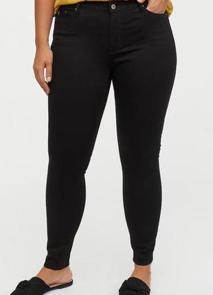 Новые утягивающие джинсы скинни h&m, большой размер. размер 50