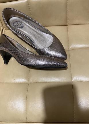 Туфли лодочки змеиный принт