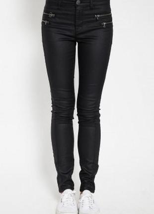 Узкие скинни skinny штаны джинсы с замками