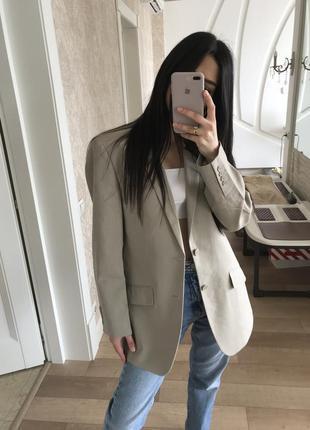 Офигенный льняной пиджак жакет оверсайз от бренда f&f