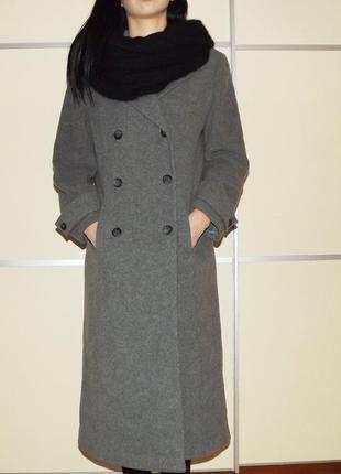 Идеальное, длинное , шерстяное пальто. крой бушлат. бесплатная доставка.