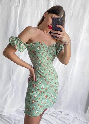 Невероятно нежное и стильное платье, тренд этого лета-цветочный принт🌾😍