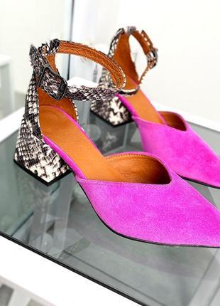 Туфли острый носок на небольшом каблуке