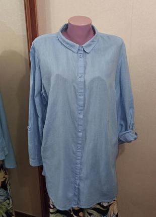 Летняя тончайшая блуза из хлопка батал большой размер батал