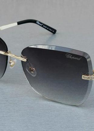 Chopard очки женские солнцезащитные безоправные темно серый градиент