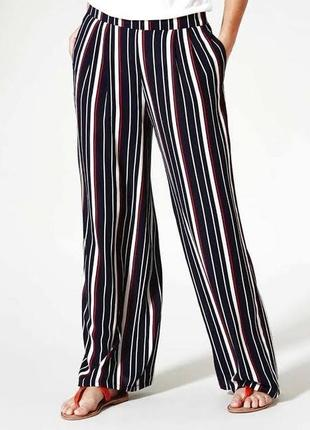Стильные брюки палаццо,свободные легкие брюки papaya