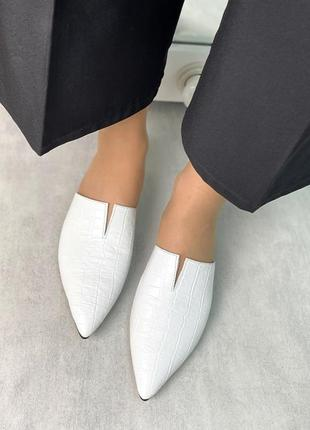 Элегантные мюли острый носок