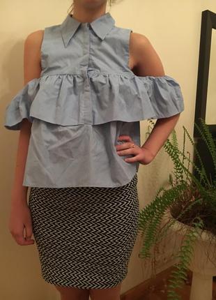 Блакитна блуза від zara