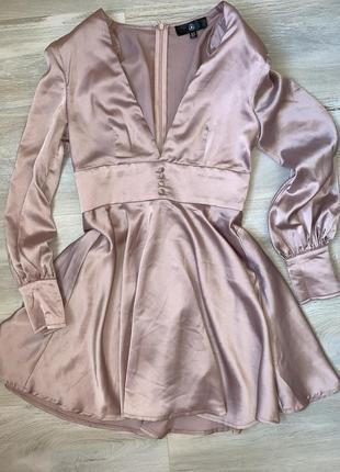 Ніжно рожева сукня розмір uk 10 misguided1 фото
