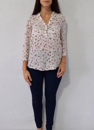 Блузка в цветы zara