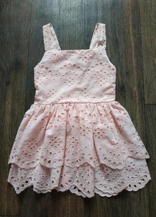 Платье прошва, легкий летний сарафан на 2-4 года