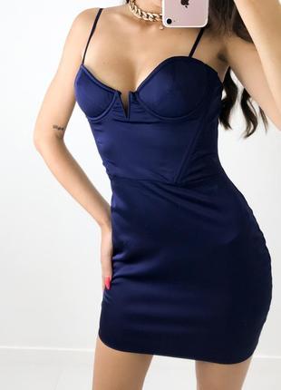Сатиновое корсетное платье ohpolly