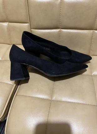 Туфли лодочки замшевые new look3 фото
