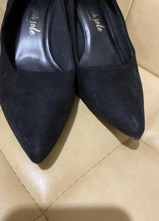 Туфли лодочки замшевые new look5 фото