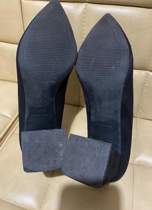 Туфли лодочки замшевые new look10 фото