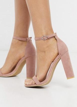 Glamorous босоножки замшевые высокий каблук