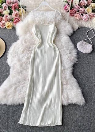 Платье комбинация плиссе