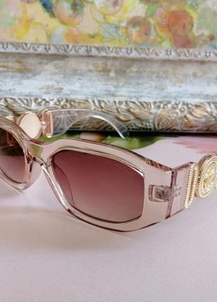 Эксклюзивные брендовые прозрачно нюдовые солнцезащитные женские очки 2021