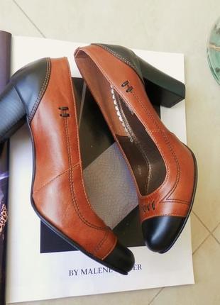 Розпродаж! шкіряні туфлі бренд la rose туфли натуральная кожа 36 повномірні caprice