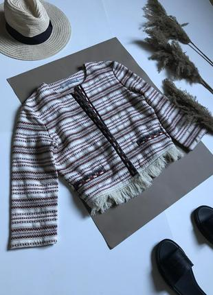 Модная накидка в этно стиле bershka m