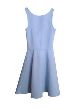 Нежно голубое платье на лето сарафан