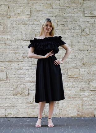 Платье с открытыми плечами италия